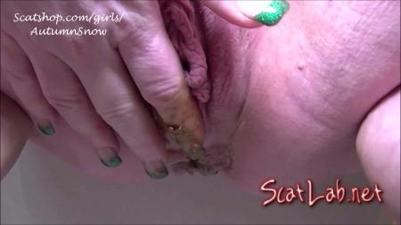 3 Pushing Grunting Shits Then Cum (Autumn's Awesome Shit) Big pile, Solo [HD 720p] Scatting