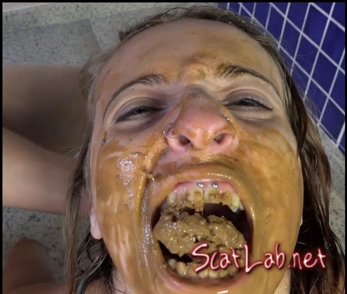 Take My Shit In Your Mouth Bitch !! (Kate Becker And Penelope) Eat Scat / Lesbian Scat Domination [FullHD 1080p] SG-Video