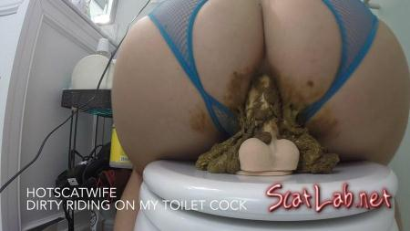 DIRTY RIDING on my TOILET COCK (HotScatWife) Scat / Poop [FullHD 1080p] Defecation