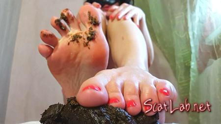 Shitty Feet (Anna Coprofield) Scat / Foot Fetish [FullHD 1080p] ScatShop