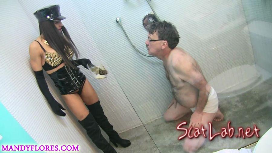 Extreme smoking and scat humiliation with SlaveRay (Mandy Flores) Scat / Femdom [FullHD 1080p] ScatShop