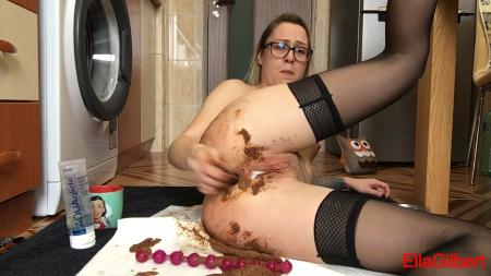 Another desperate mornig (EllaGilbert) Shit In Pantyhose, Solo [FullHD 1080p] Smearing