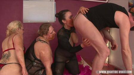 More Little Pigs (Gina, Francesca, Nadia, 1 Male) Enema, BBW Scat [HD 720p] Hightide-Video