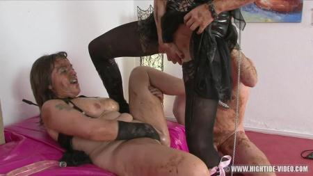 SCAT SUBMISSION (Regina Bella, Gina, 1 Male) Scat, Group Sex [HD 720p] Hightide-Video