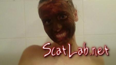 Bathing in shit water. Part 2 (Brown Wife) Solo Scat [FullHD 1080p] Scatting