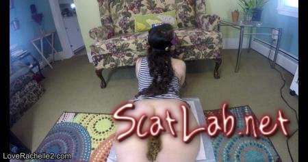 Slow Pushed Poop and Pre-Poop Farts (LoveRachelle2) Smearing, Solo [4K UltraHD] Defecation