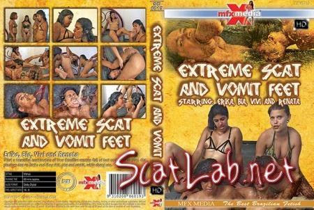 [SD-6019] Extreme Scat and Vomit Feet (Erika, Bia, Vivi, Renata) Vomit, Lesbian [HDRip] MFX Media