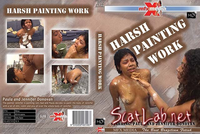 MFX-6146 Harsh Painting Work (Paula, Jennifer Donovan) Lesbian, Vomit [HDRip] MFX Media
