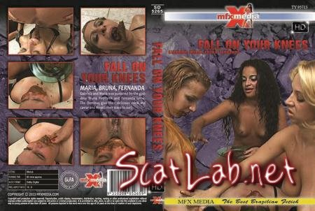 [SD-5265] Fall on your Knees (Paris, Sabrina Red, Giovanna) Lesbian, Domination [HDRip] Brazil Scat