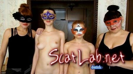 Two scat slaves (Caroline, Alice, Natalya)  [FullHD 1080p] [ScatShop.com] Two slaves Caroline and Alice with ModelNatalya94