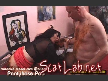 VM55 - PANTYHOSE POO (Veronica Moser, 1 male) Scatology, Milf, Fisting [SD 720p] Hightide