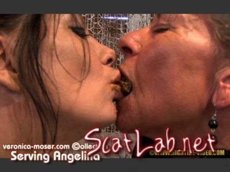 VM44 - SERVING ANGELINA (Veronica Moser, Angelina) Lesbians, Smoking, Mature [HD 720p] Hightide Scat