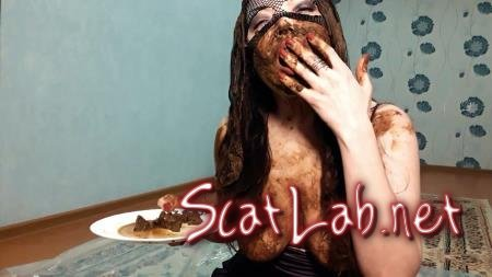 My hair is in shit (ScatLina) Defecation, Solo, Young [FullHD 1080p] Eating Shit