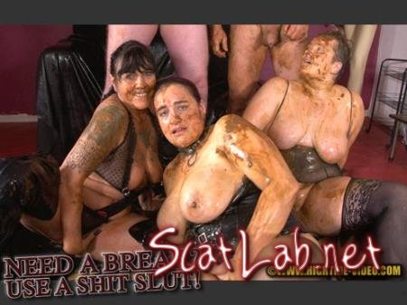NEED A BREAK? USE A SHITSLUT! (Stella, Daria, Penelope, 2 males) Humiliation, BBW [SD 720p] Hightide