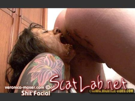 VM64 - SHIT FACIAL (Veronica Moser, 1 male) Toilet Slavery, Milf [HD 720p] Hightide