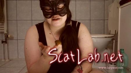 First time swallowing soft poo (LucyScat) Scatting, BBW [FullHD 1080p] Solo Scat