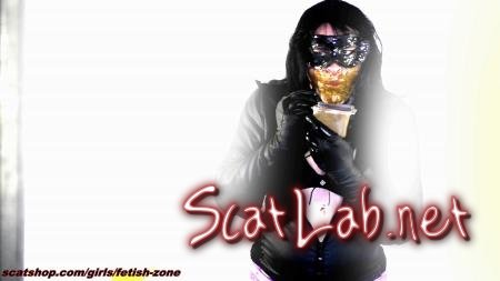 Quickly Eat shit and drink piss (Fetish-zone) Latex, Milf, Solo [HD 720p] Scatting Girl
