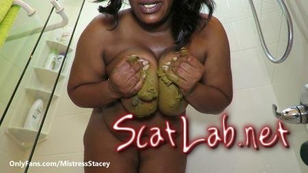 Shit Sucker Produce (ScatFreekzClub) Solo, Boobs Shit [FullHD 1080p] Black Scat