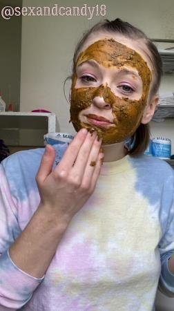 Teen's first diaper fill + face mask! (sexandcandy18) Amateur, Young [UltraHD 2K] Scatting