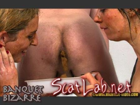 BANQUET BIZARRE (Ingrid, Fiona, 1 male) Defecation, Blowjob [HD 720p] Hightide-Video.com