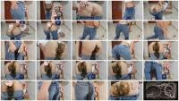 Shitting In My Tight Blue Jeans (MissAnja) Solo, Scat [FullHD 1080p] Pooping Jeans
