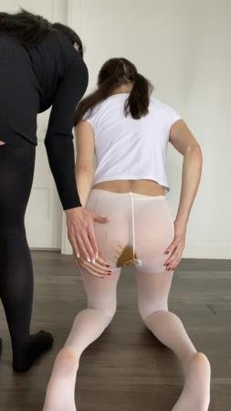 Shitting myself inside white pantyhose (TheHealthyWhores) Solo, Teen [UltraHD 2K] Shit In Pantyhose