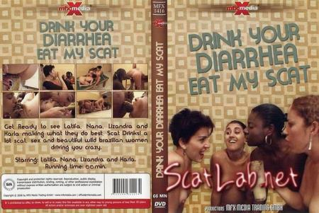 Drink your Diarrhea, Eat my Scat (Latifa, Nana, Lizandra, Karla) Scat [DVDRip] Scat