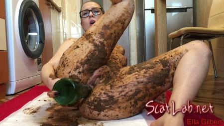 Extreme Body and Face Smearing (EllaGilbert) Smearing, Solo [FullHD 1080p] Poop Videos