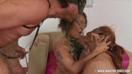 SCAT SUBMISSION 2 (Regina Bella, Gina, 1 Male) Scat, Lesbians, Group [HD 720p] Hightide-Video