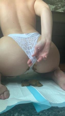 This panty poop turned real messy (Natalielynne699) Scatology, Solo [UltraHD 2K] Shitty Panties
