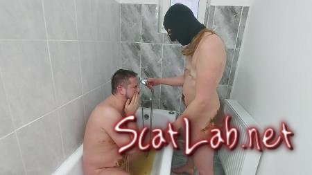 Dirtywife and Faith amateur dirty scat play (GoddessAndreea) BDSM, Humiliation [FullHD 1080p] Domination